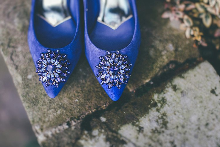 Blue Shoes Bride Bridal Whimsical Green White Fairy Lights Winter Wedding http://jesspetrie.com/