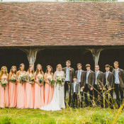 Joyful Homemade Peach Rustic Barn Wedding with 2000 Paper Cranes