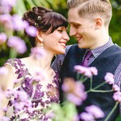 Beautiful & Relaxed Surprise Wedding with a Purple Dress