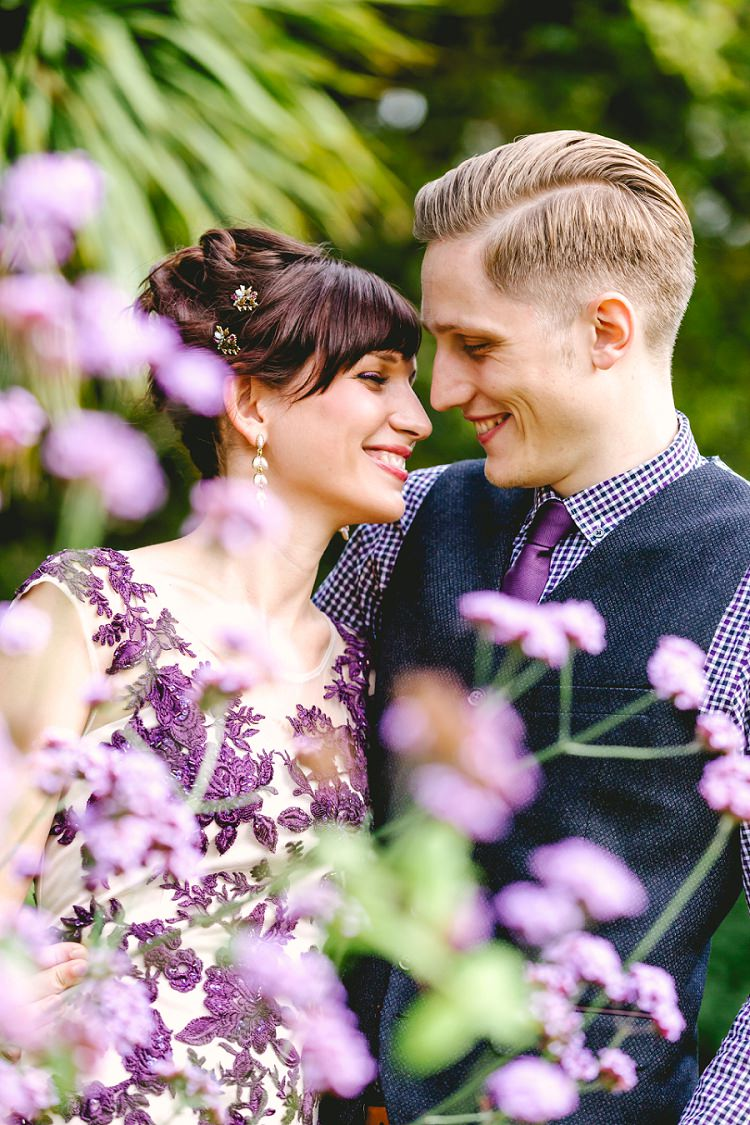 Beautiful relaxed surprise wedding with a purple dress beautiful relaxed surprise wedding httptheimagegarden junglespirit Gallery