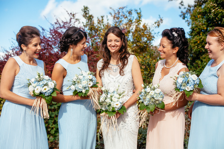 Pale Blue Bridesmaid Dresses Ted Baker Relaxed Vintage Stylish Country Wedding http://www.cassandralane.co.uk/