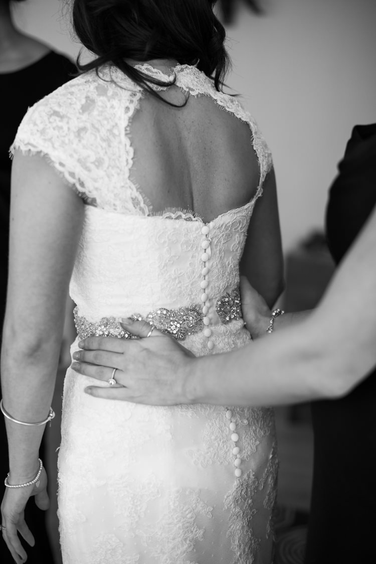La Sposa Lace Button Low Back Dress Bride Belt Charming Orange Navy Rustic Wedding http://www.kayleighpope.co.uk/