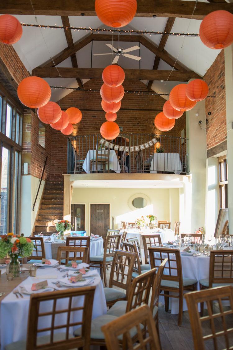 Lanterns Charming Orange Navy Rustic Wedding http://www.kayleighpope.co.uk/