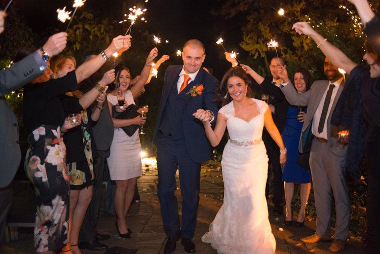 Sparklers Charming Orange Navy Rustic Wedding http://www.kayleighpope.co.uk/
