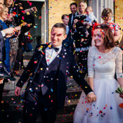 Simple Fun & Colourful Quirky London Wedding