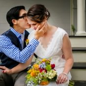 Colourful Heartfelt Wedding with a First Look in Massachusetts