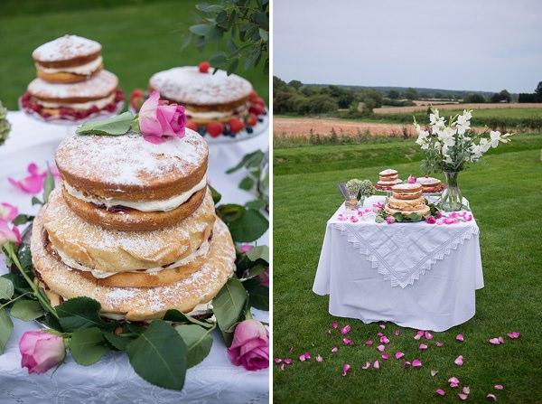 Vintage Cake Table Stylish Modern Monochrome Village Hall Wedding http://www.sarareeve.com/