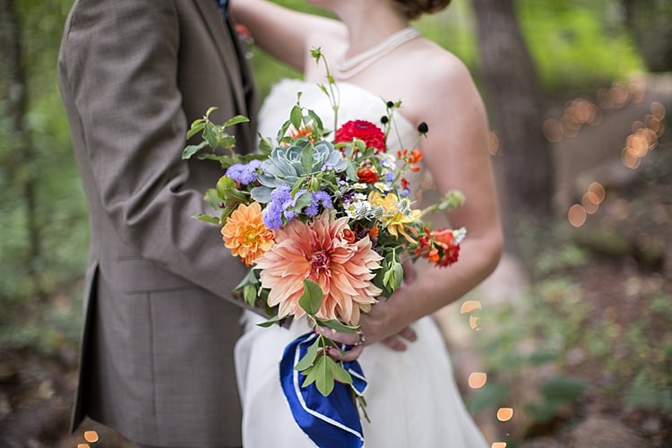 Flowers Bouquet Colourful Wild Natural Bride Bridal Light Hearted Fun Quirky Farm Pennsylvania Wedding http://www.kelseykradel.com/