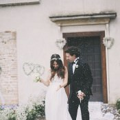 Bohemian Chic White Countryside Wedding in Vicenza