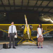 Vintage 1920s Inspired Aerodrome Styled Engagement Shoot in Portugal