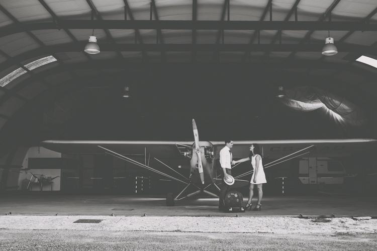 Vintage 1920s Aerodrome Styled Engagement Shoot Portugal http://jesuscaballero.com/