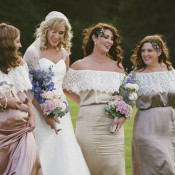 Relaxed Bohemian Glamour Pink & Blue Wedding