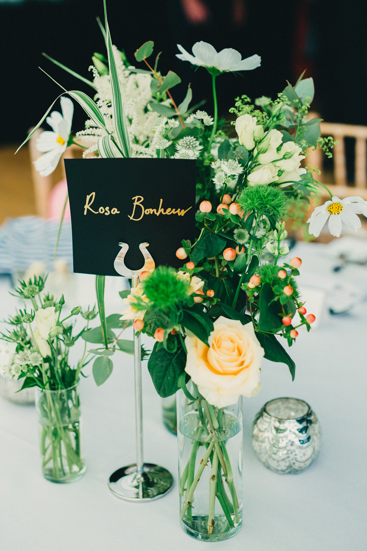 Black Gold Table Names Flowers White Green Vases Pretty Centrepiece Tables Stylish Rural Relaxed Bohemian Wedding http://peppermintlovephotography.com/