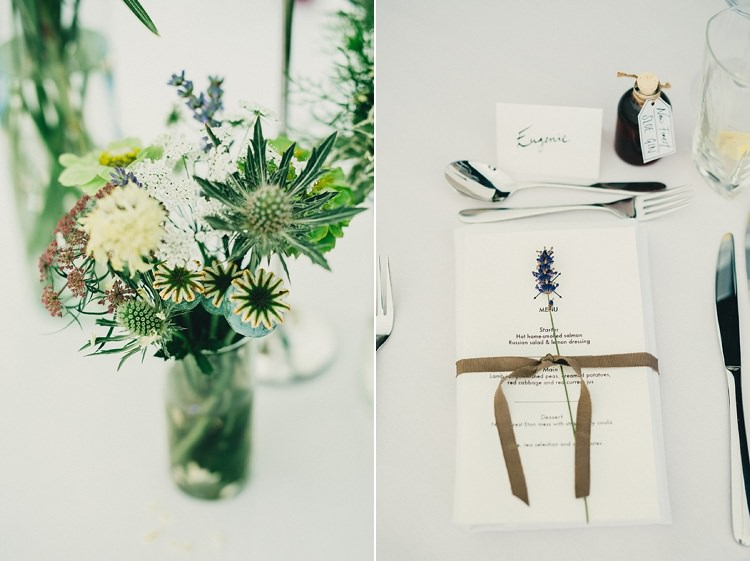 Lavender Place Setting Stationery Menu Stylish Rural Relaxed Bohemian Wedding http://peppermintlovephotography.com/