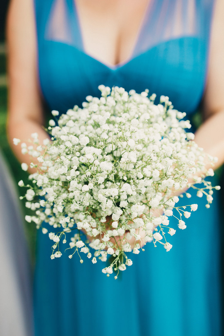 Baby Breath Gyp Gypsophila Bouquet Flowers Bridesmaid Posy Stylish Rural Relaxed Bohemian Wedding http://peppermintlovephotography.com/