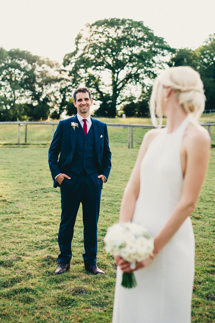 Navy Suit Red Tie Cad and the Dandy Suit Groom Stylish Rural Relaxed Bohemian Wedding http://peppermintlovephotography.com/