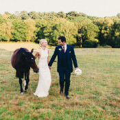 Stylish Rural Relaxed & Bohemian Stables Wedding