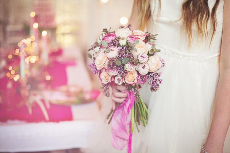 Eccentric flower fairy woodland glitter pink wedding ideas cream pink flowers bouquet bridal eccentric flower fairy rustic woodland glitter pink dip die fairy lights mightylinksfo