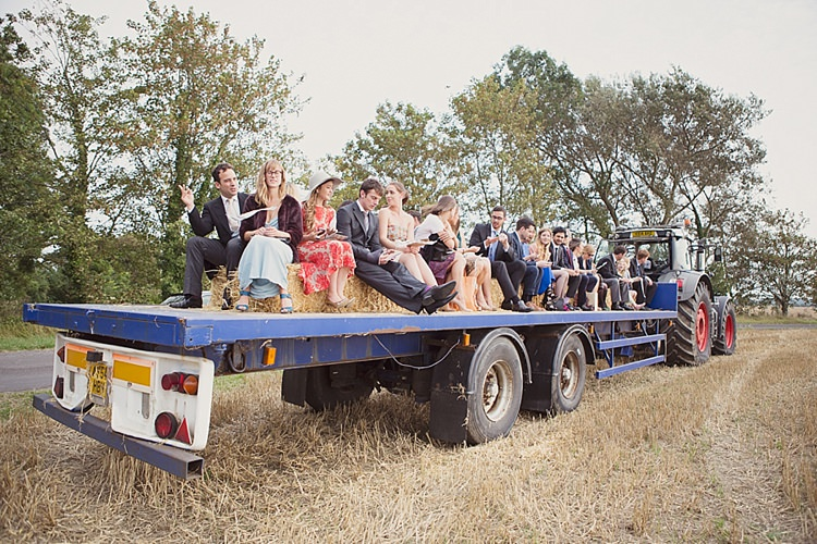 Tractor Transport Farm Stylish Creative Wild Flower Crowns Tipi Wedding http://www.cottoncandyweddings.co.uk/