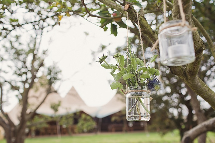 Jar Flowers Hanging Stylish Creative Wild Flower Crowns Tipi Wedding http://www.cottoncandyweddings.co.uk/