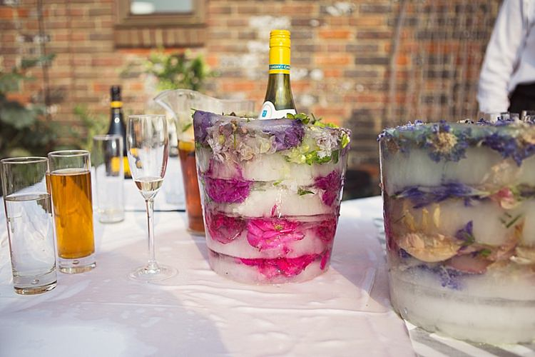 Flower Ice Bucket Stylish Creative Wild Flower Crowns Tipi Wedding http://www.cottoncandyweddings.co.uk/