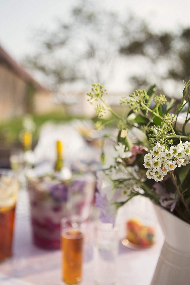 Jug Flowers Drinks Stylish Creative Wild Flower Crowns Tipi Wedding http://www.cottoncandyweddings.co.uk/