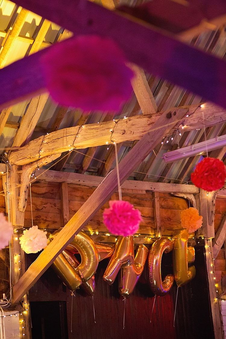 Dance Balloons Pom Poms Stylish Creative Wild Flower Crowns Tipi Wedding http://www.cottoncandyweddings.co.uk/