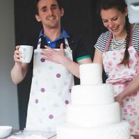 DIY Practice Wedding Cake Baking Engagement http://hbaphotography.com/Shoot