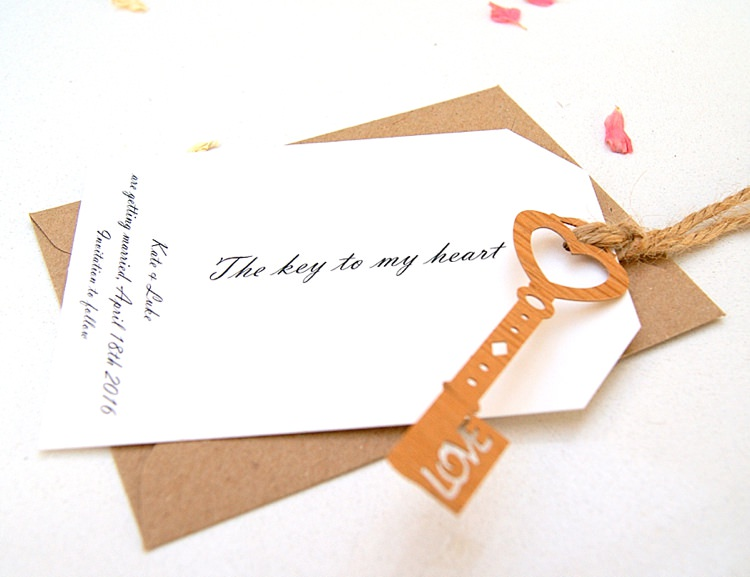 Key to my Heart Save The Dates Stationery Hummingbird Cards
