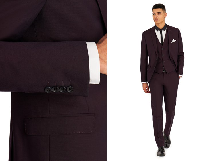 Moss Bros Suits Groom Style Burgundy