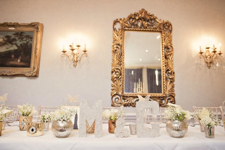 Top Table Decor Classic Chic Simple Elegant Champagne Wedding Kent http://kerryannduffy.com/