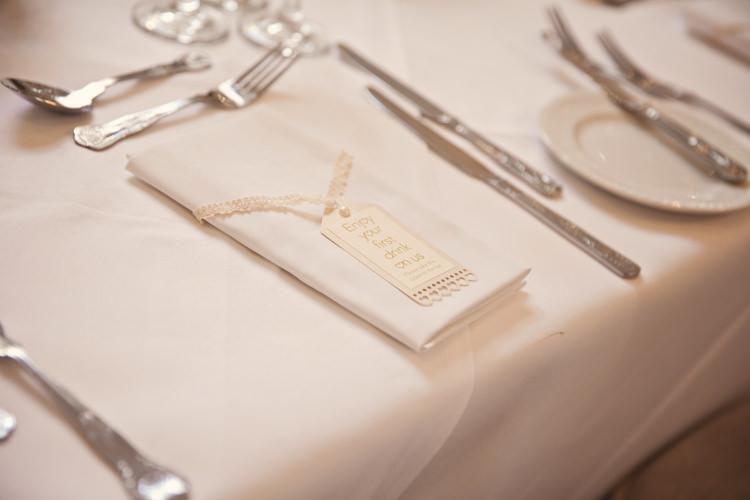 Drink Voucher Favours Classic Chic Simple Elegant Champagne Wedding Kent http://kerryannduffy.com/