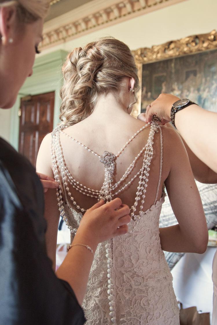 Pearl Back Lace Dress Gown Bride Bridal  Ronald Joyce Classic Chic Simple Elegant Champagne Wedding Kent http://kerryannduffy.com/