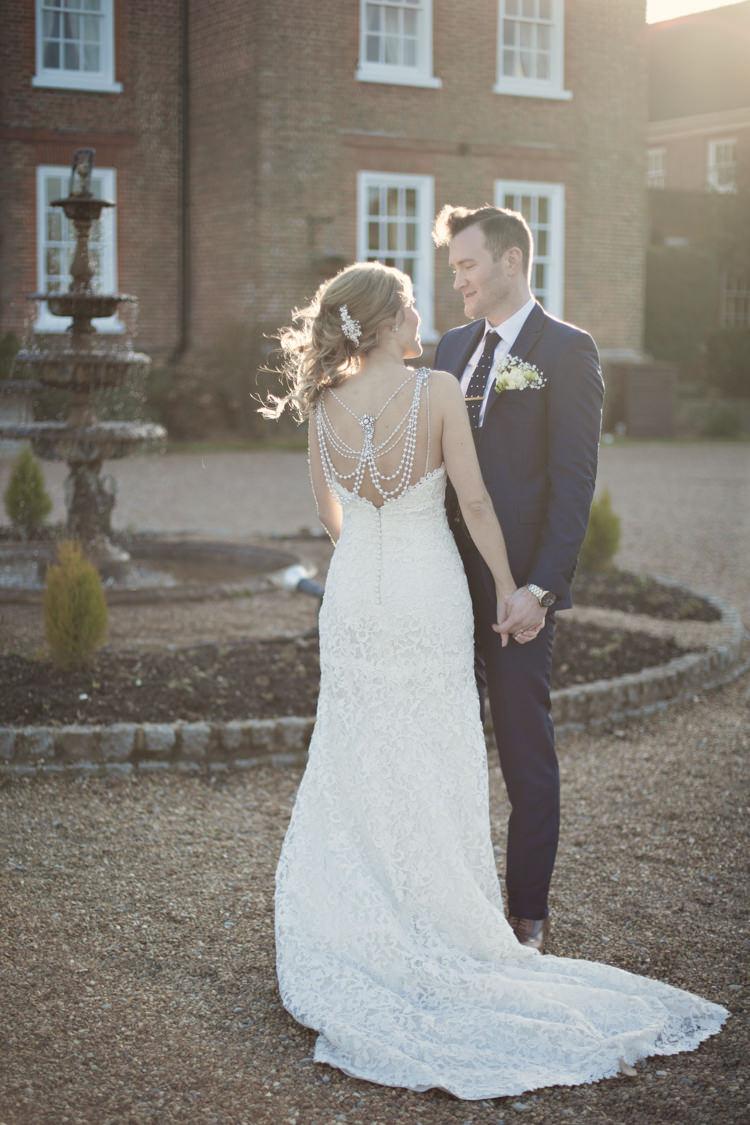 Ronald Joyce Back Pearl Dress Gown Bride Lace Bridal Classic Chic Simple Elegant Champagne Wedding Kent http://kerryannduffy.com/