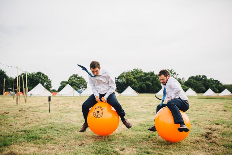 Space Hoppers Colourful Festival Glamping Fete Games Wedding http://www.newforeststudio.com/