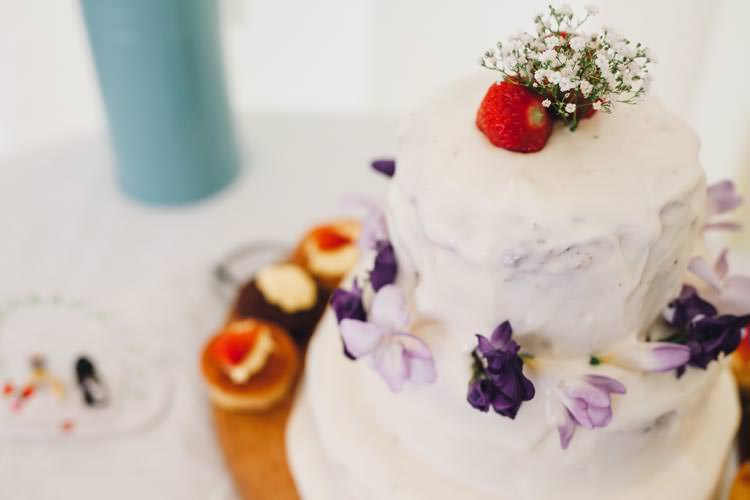 Rustic Flowers Cake Colourful Festival Glamping Fete Games Wedding http://www.newforeststudio.com/