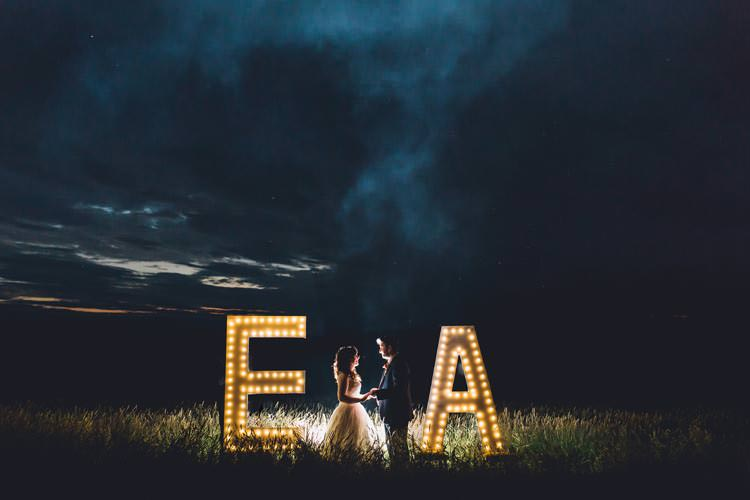Light Up Letters Initials Colourful Festival Glamping Fete Games Wedding http://www.newforeststudio.com/