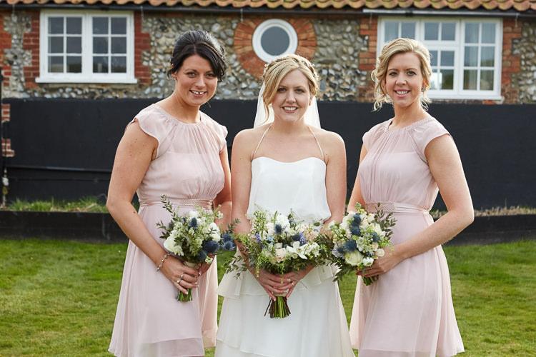 Pink Bridesmaid Dresses Quaint Rustic Seaside Windmill Wedding Norfolk http://www.fullerphotographyweddings.co.uk/