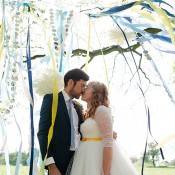 Colourful & Creative Outdoor Woodland DIY Yurt Wedding
