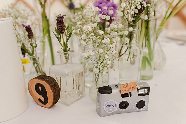 Log Table Names Numbers Colourful Outdoor Woodland DIY Yurt Wedding http://alexa-loy.com/