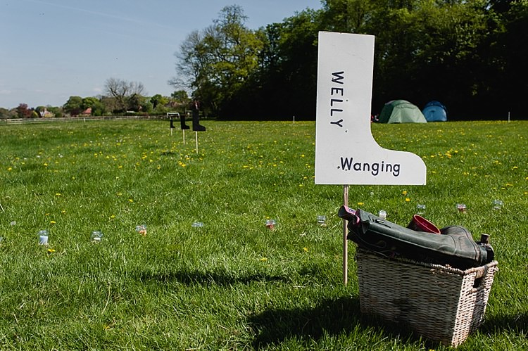 Welly Wanging Fete Game Colourful Outdoor Woodland DIY Yurt Wedding http://alexa-loy.com/