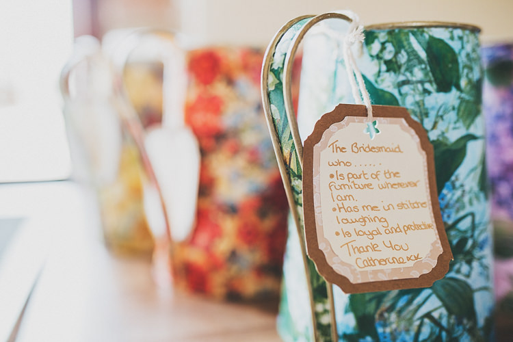Bridesmaid Gift Jugs Pretty Spring Country Rustic Wedding Northamptonshire Racecourse http://www.frankee-victoria.co.uk/