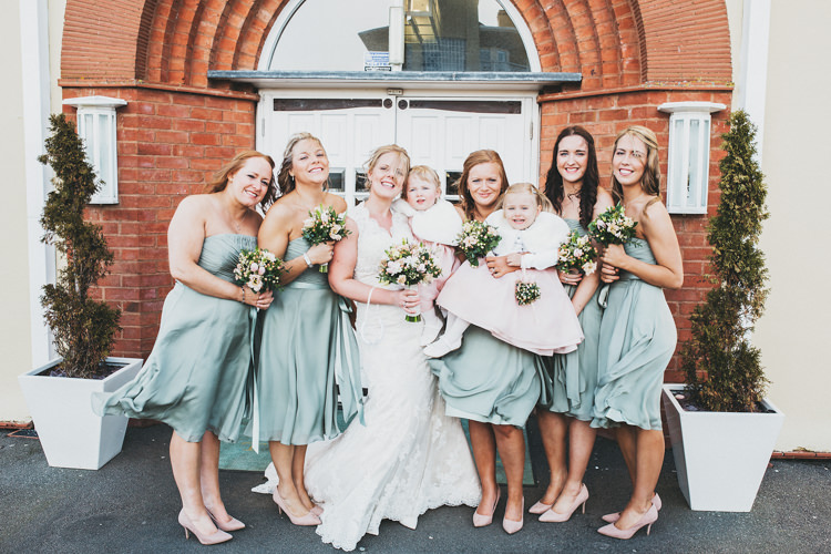 Green Short Bridesmaid Dresses Pretty Spring Country Rustic Wedding Northamptonshire Racecourse http://www.frankee-victoria.co.uk/