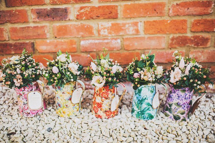 Jug Flowers Bouquets Pretty Spring Country Rustic Wedding Northamptonshire Racecourse http://www.frankee-victoria.co.uk/