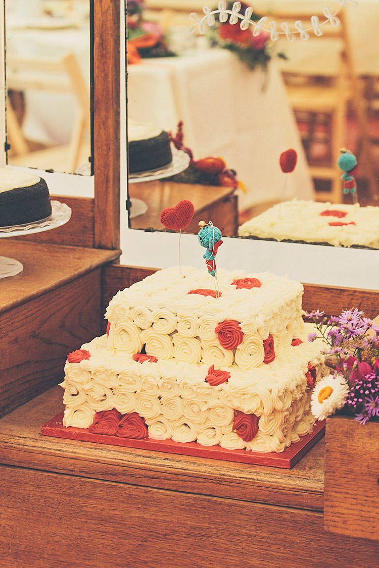 Swirl Cake Red White Rainbow Railway Vintage 1950s Home Made Wedding http://www.jessicawitheyphotography.com/