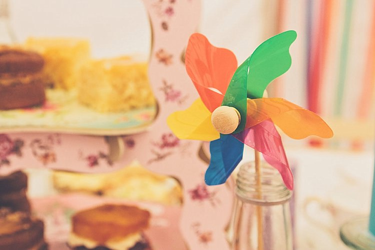 Pinwheel Rainbow Railway Vintage 1950s Home Made Wedding http://www.jessicawitheyphotography.com/