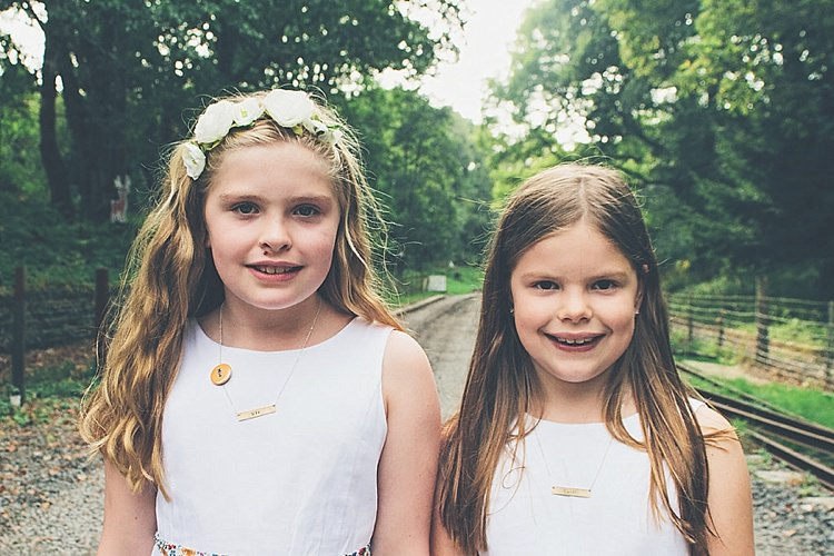 Flowergirls Rainbow Railway Vintage 1950s Home Made Wedding http://www.jessicawitheyphotography.com/