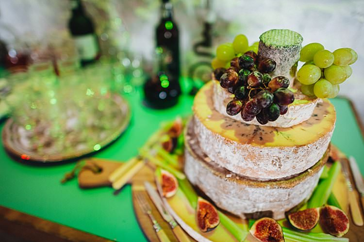 Cheese Tower Stack Pretty Blue Barn Wedding Sea South Wales http://www.agatomaszek.com/