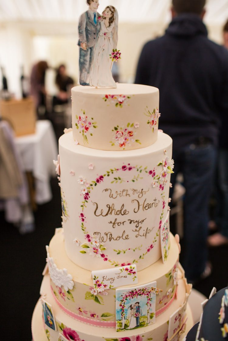 Nevie Pie Cakes Illustrated Painted Whimsical Tie The Knot Wedding Carnival Hertfordshire Fair Event http://www.binkynixon.com/
