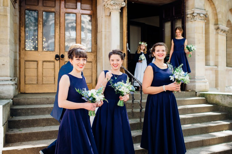 Blue Bridesmaid Dresses Navy Relaxed London Vintage Spring Wedding http://www.mariannechua.com/